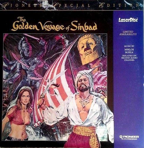 GOLDEN VOYAGE OF SINBAD - RAY HARRYHAUSEN SPECIAL EFFECTS - (2) LASER DISC SET