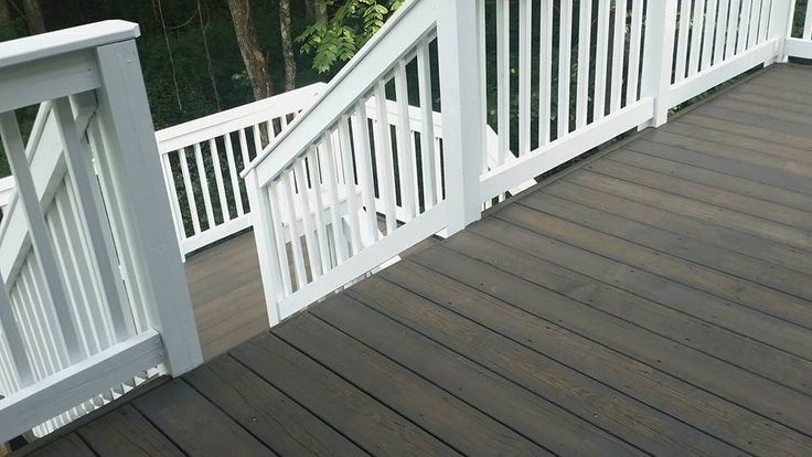Deck Cabot Semi Solid Burnt Hickory And Painted White