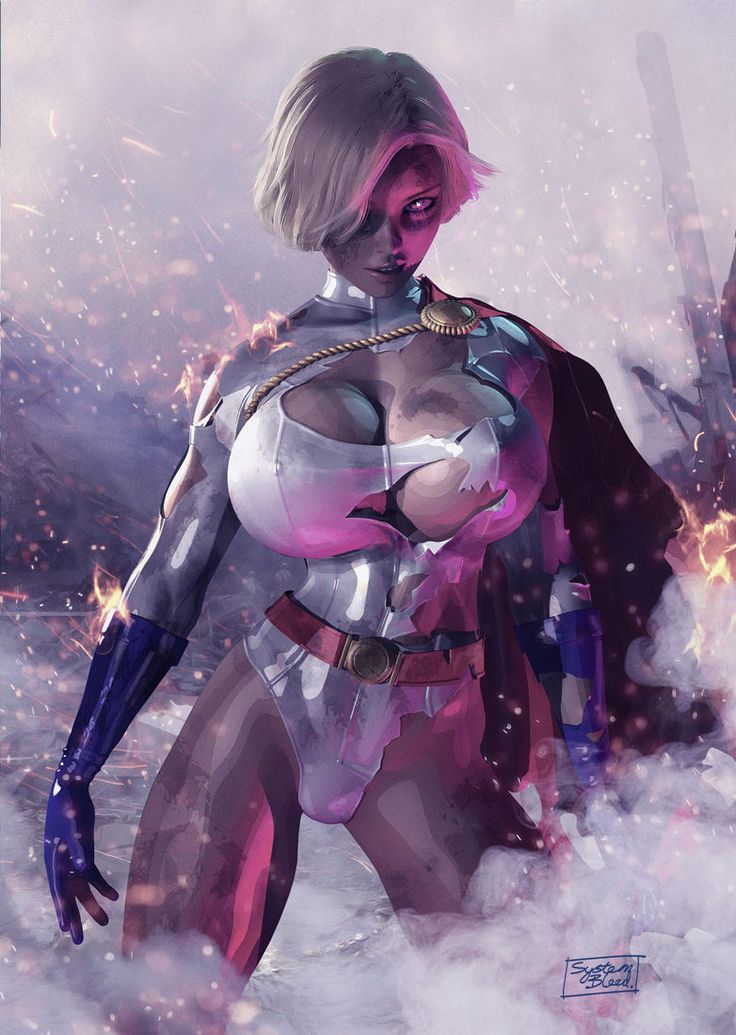 Power Girl Battle Damage by SystemBleed
