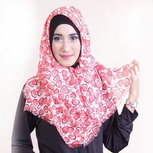 Shafeeya Kerudung Rawis Motif Nessa - Salem