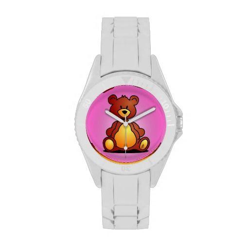 Teddy Bear Wristwatch. #Zazzle #Cardvibes #Tekenaartje #Watch