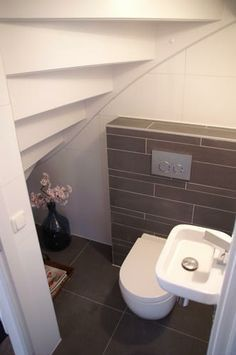 toilet underneath the stairs - Google Search