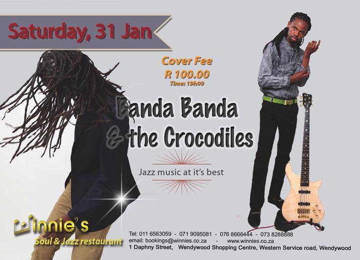 Winnies Soul and Jazz brings you Banda Banda & The Crocodiles Project live on stage– 31 Jan, 2015 |