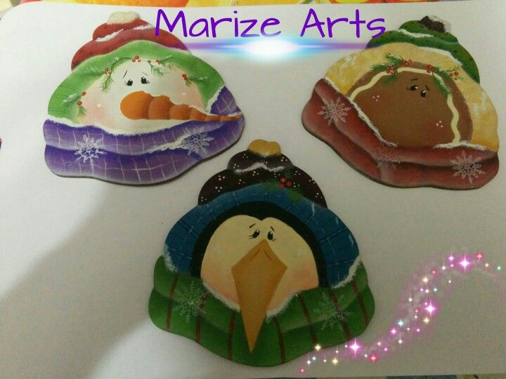 Marize Arts - Pintura country - Meus novos enfeites para o Natal 2015 - Projeto Renee Mullins - revista quick and easy - winter 2008.
