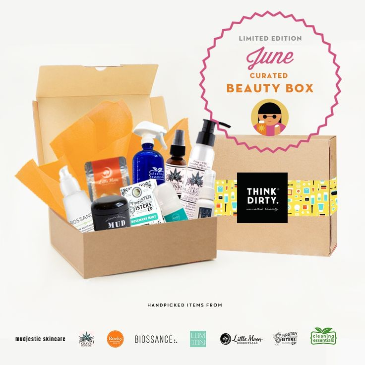 We are partnering with rated clean 0-3 beauty brand sponsors1 who support our mission to bring the most requested beauty box to you. Each box comes with 9 hand-picked, rated clean beauty products, a full she-bang of Think Dirty swag goodies and lots of love. Valued at over $USD 250+, specially offered to you for $USD 95!    The Think Dirty Clean Beauty box is the perfect gift for health-conscious significant others, hard-core yogi friends, or kale-loving besties. Or better yet, show yourself…