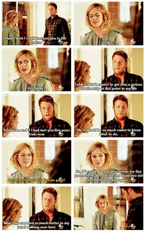 Manhattan Love Story - remember this episode... And then the kiss
