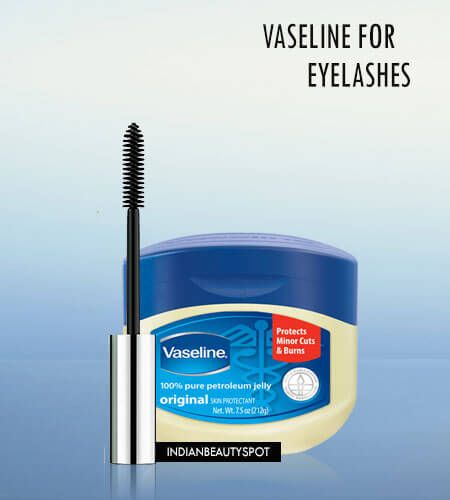 Use Vaseline for longer thicker lashes