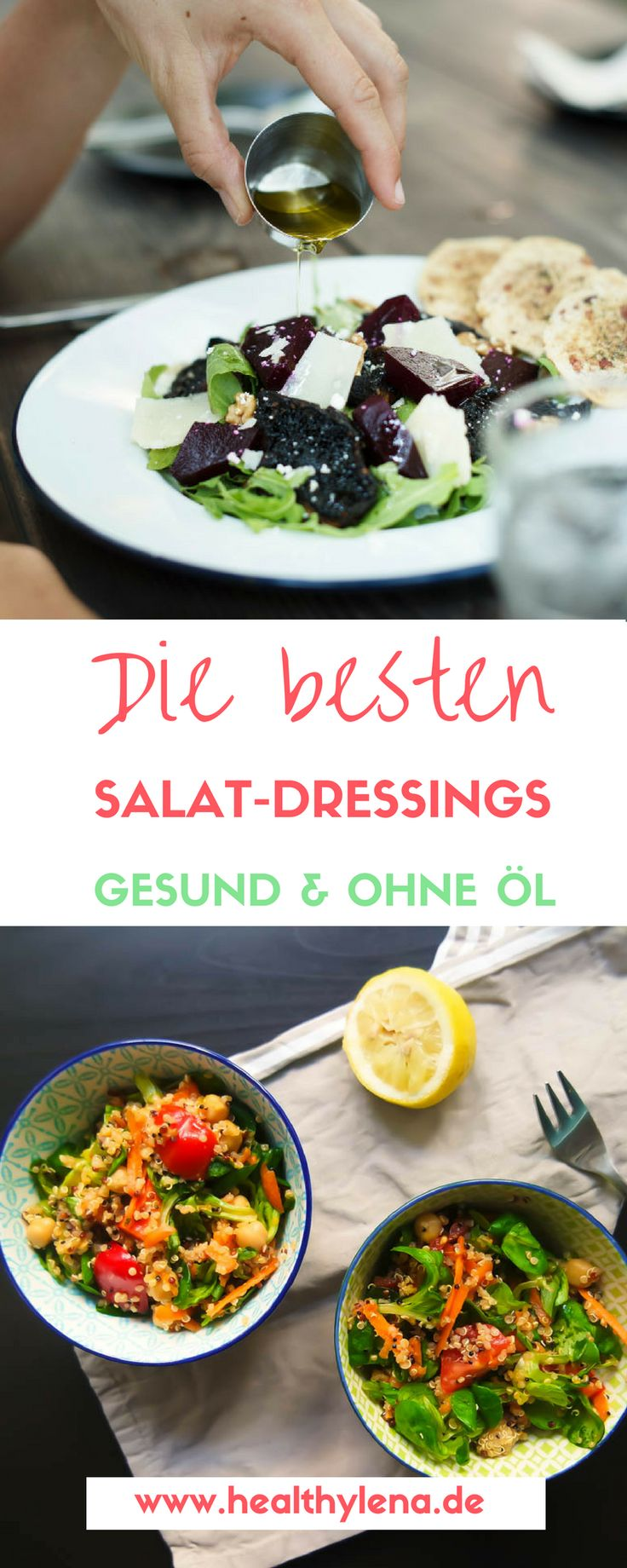 Was wäre ein leckerer Salat ohne das passende Dressing dazu? Ein gutes Salat-Dressing macht aus einem schnöden Salat schnell ein echtes Geschmackserlebnis. Aus diesem Grund möchte ich heute 7 Rezepte für Salat-Dressings mit dir teilen, die dich hoffentlich auch zum echten Salat-Liebhaber machen werden: glutunfrei, gesund, vegan & ohne Öl.
