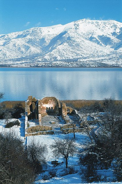 This is my Greece | Ruins of Agios Achillios church in lake Mikri Prespa of Florina