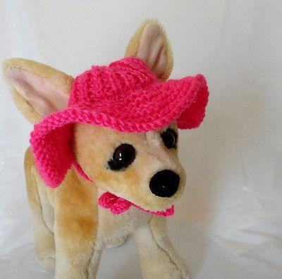 Para mascotas Ropa Traje De Verano Crochet Hecho A Mano Tejido ala Sombrero Para Perro Pequeño