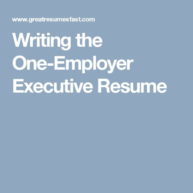25+ parasta ideaa Pinterestissä Executive resume Ansioluettelo - how to write executive resume