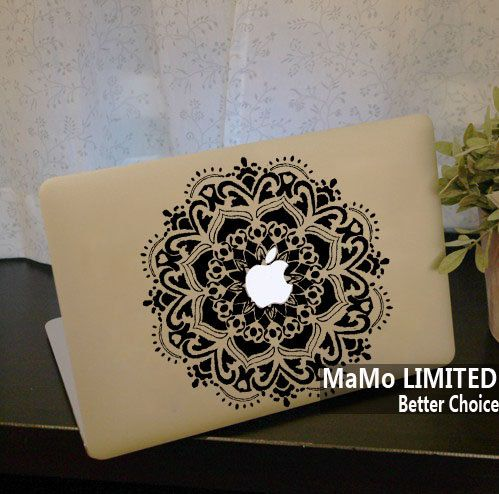 Totem flowers macbook decals macbook stickers macbook skins mac cover skins vinyl decal for apple