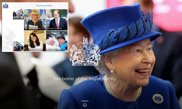 The monarch was given a sneak preview of the new Buckingham Palace website earlier this week. Launching tonight, it will feature a rolling screen of photographs and videos for every royal.