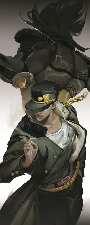 Jotaro Kujo, Generation 3 of the Joestars. Just started this arc, most eclectic anime ever. #jojosbizarreadventure