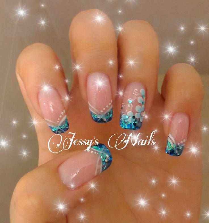 uñas acrilicas bonitas nail gel acrilicas azul bonitas