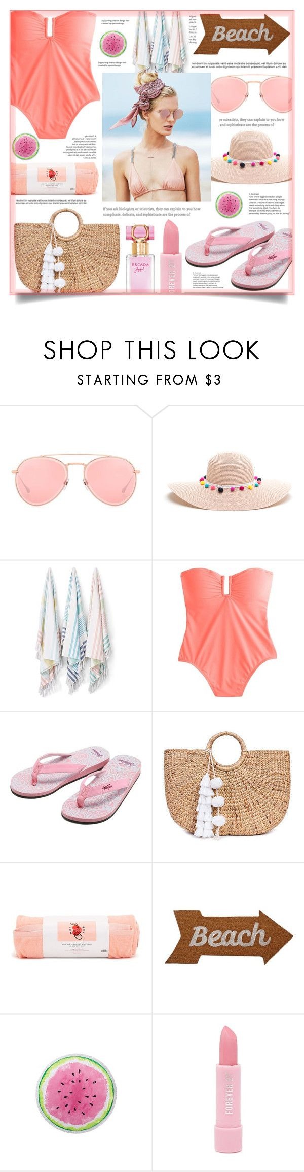 """""""Swimsuit"""" by ouat-lover-28 ❤ liked on Polyvore featuring Dita, Kassatex, J.Crew, Beach Riot, Trespass, JADE TRIBE, ban.do, Mud Pie, Forever 21 and polyvoreset"""