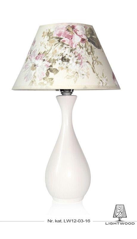 Lampa stojąca biala kwiaty, wazon Lightwood http://lightwoodsklep.com/