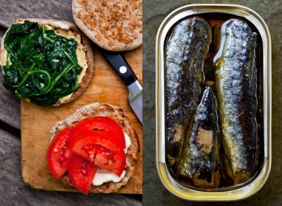 Lunch time! Sardines and Spinach Sandwiches | yammiiiiiiii | Pinterest ...