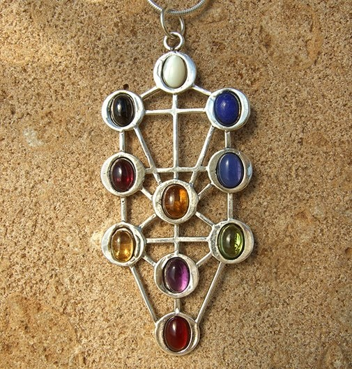 Tree Of Life - The Tree Of Life is the central motif and has it's origin in the Jewish philosophy known as the Kabbalah, the study of Hebrew esoteric mysticism. It first appeared four thousand years ago, in the Book of Creation. It was written that the tree represents a synthesis of the whole of creation.
