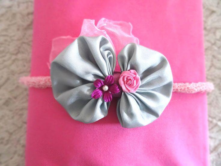 Haarbänder - Baby Haarband Schleife Newborn Fotografie prop - ein Designerstück von MONICCI_Handmade_Props bei DaWanda