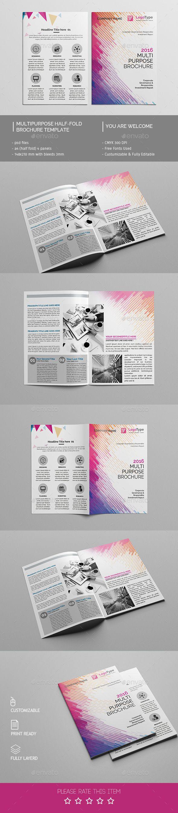 Corporate Bi-fold Brochure Template PSD #design Download: http://graphicriver.net/item/corporate-bifold-brochure-template-04/14310715?ref=ksioks