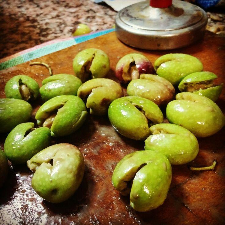 Facciamo le olive schiacciate!