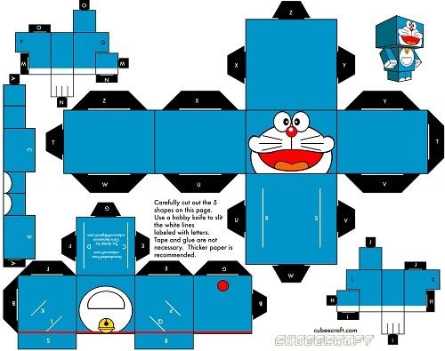 Recortables de cajas | robot de Doraemon