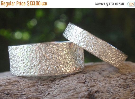 SALE 10% OFF wedding bands engagement ring set by preciousjd