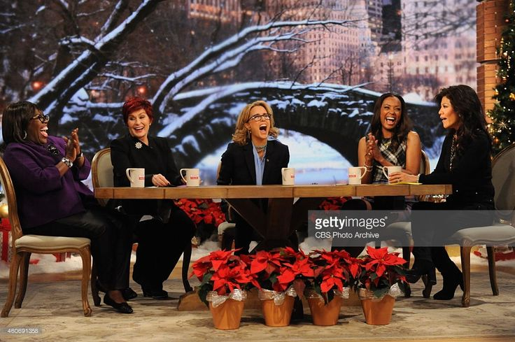 Actress Téa Leoni (CBS's Madam Secretary) on The Talk in New York on Thursday, Dec. 11, 2014 on the CBS Television Network. From left, Sheryl Underwood, Sharon Osbourne, Téa Leoni , Aisha Tyler and Julie Chen, shown.