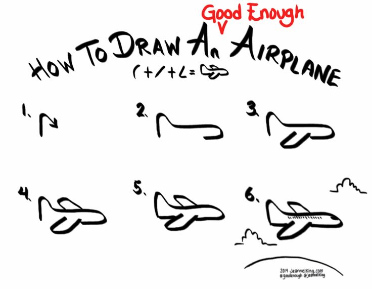 jeannelking.com | How to draw a Good Enough airplane