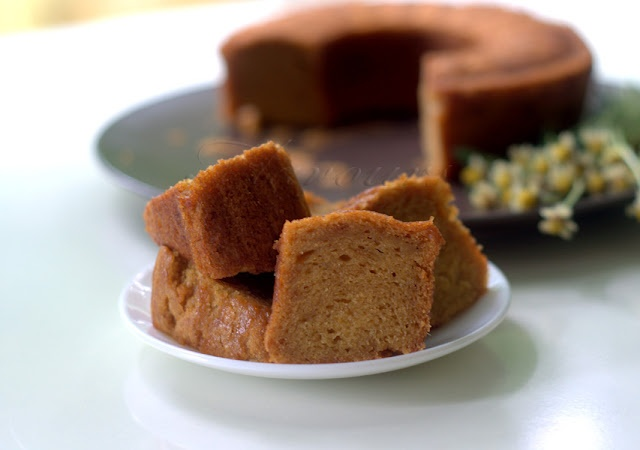 Mango Cake flavoured with Cardamom