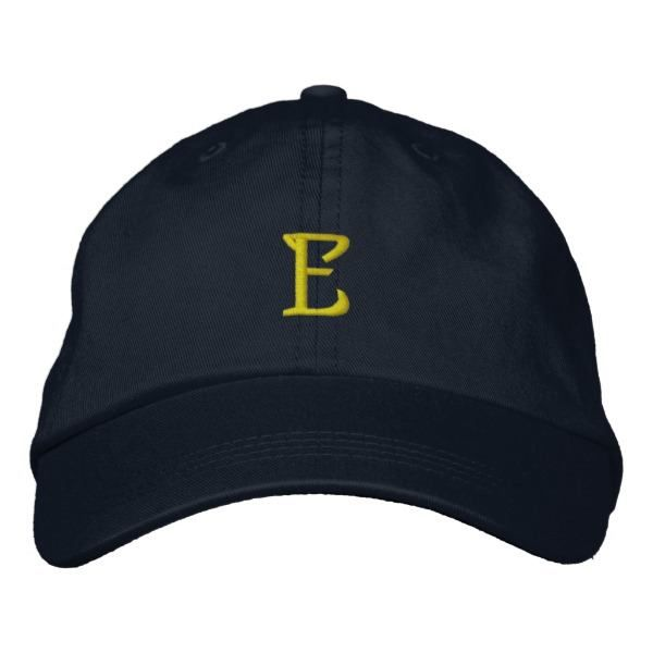 "http://ift.tt/2v0OFY0 Shop https://goo.gl/v69qau   INITIAL ""E"" Designer Cap    A very cool EMBROIDERED Hat for those who want their first name initial or Club initials on top for an easily recognisable design that helps to identify their own cap!   Makes a...  Go To Store  https://goo.gl/v69qau  #Caligraphy #CapitalLetters #ClubInitials #EInitial #EmbroideredInitials #EmbroideredLetters #GoldLettering #Initials #Manuscript #NamesStartingWithE http://ift.tt/2v0OFY0"