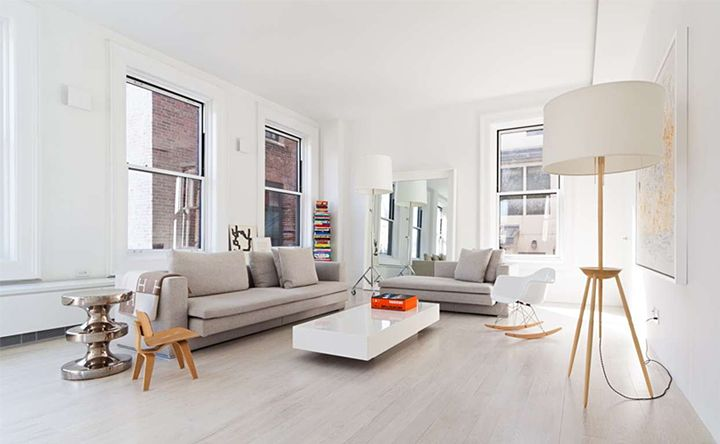 White Apartment In New York City