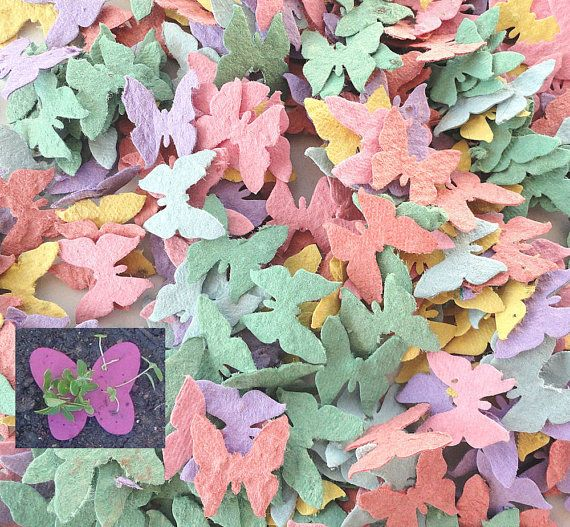 Papier Schmetterlinge 200 pflanzbar Seed - diy Platzkarten Hochzeit Gefälligkeiten, save Date-Karten, kreative Einladungen on Etsy, 22,61€