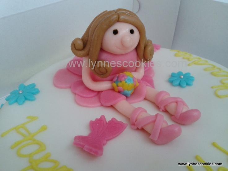 close up of ballerina cake