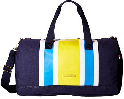Tommy Hilfiger TH Stripes - Painted Canvas Large Duffel