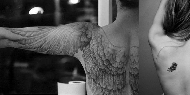 Inspiration tatouage avec dessin d 39 ailes sur le dos les omoplates tatouages pinterest - Tatouage aile d ange homme ...