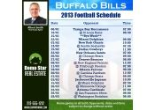 5x5 in One Team Buffalo Bills Football Schedule