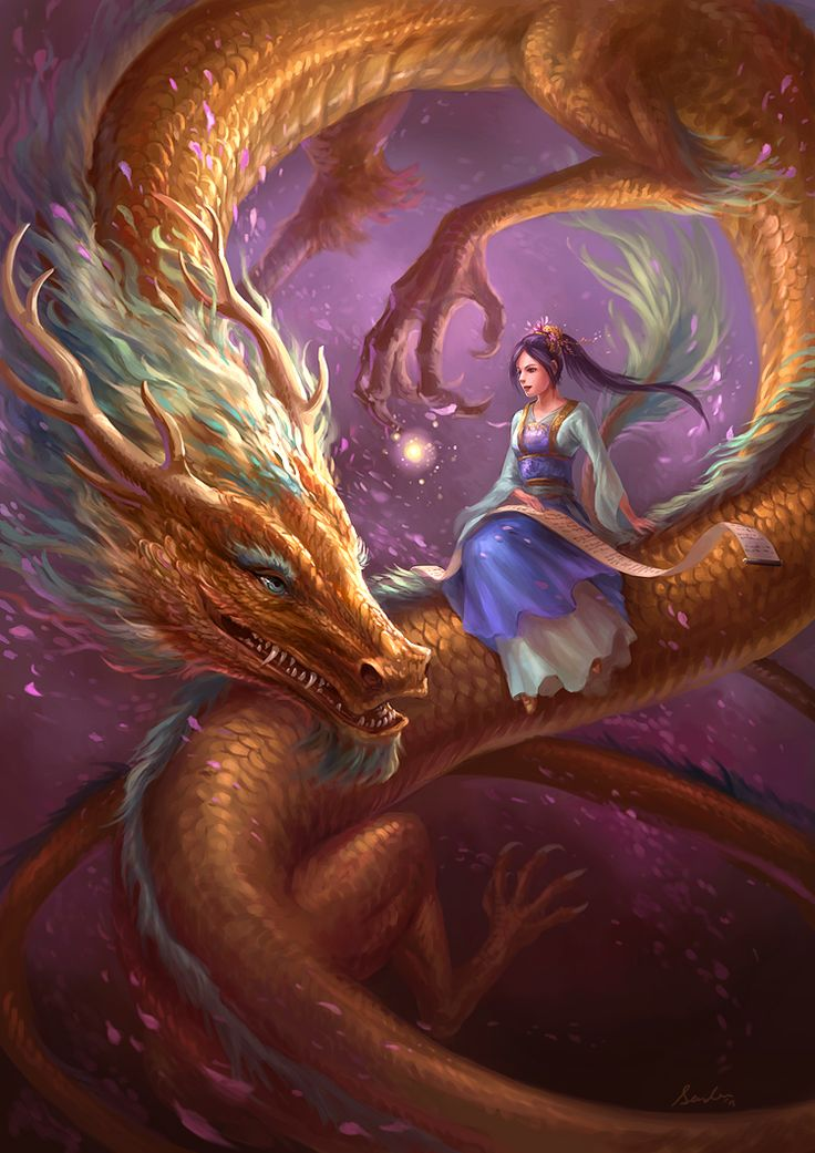 Girl And Dragon by sandara on DeviantArt