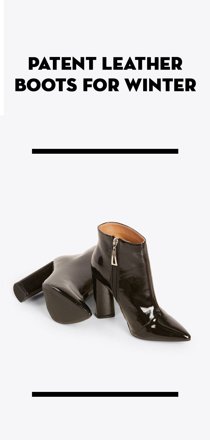 leather boots Patent leather boots for Winter... 3562a2e52c6e9b91bded75b7818cf448
