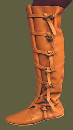 Medieval Clothing and Footwear- Premium Knee Boots