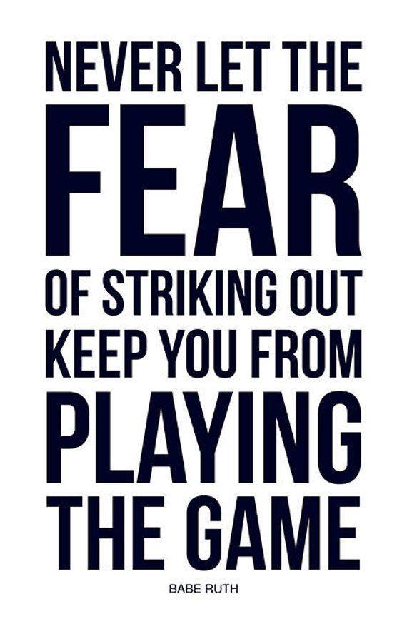 Sports Quote Poster Baseball Print Inspirational Motivational Historic Iconic New York Lege Inspirational Sports Quotes Sports Quotes Quote Posters