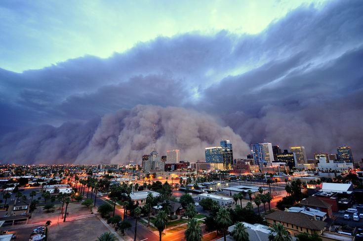 """Haboob in Phoenix """"Haboobs"""" are massive dust storms. This one famously hit Phoenix in 2011."""