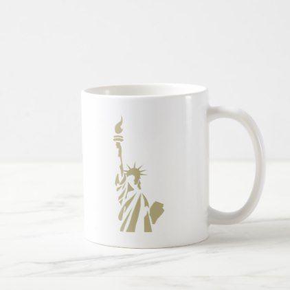 Statue of Liberty - New Colossus Patriotic Poem Coffee Mug  $15.80  by LadyLib  - cyo customize personalize unique diy idea