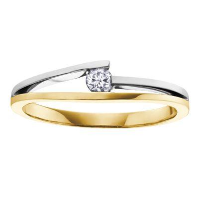 Ladies two tone 10k gold diamond ring, $379 #ZekesWishList