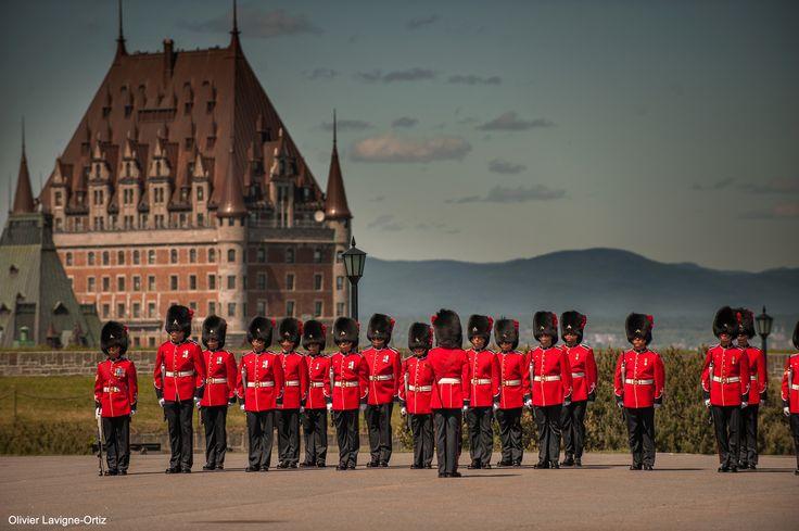 La relève de la garde, à la Citadelle de Québec,
