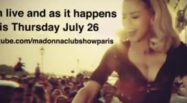 Hoy Madonna transmitirá su concierto en vivo desde Paris vía Youtube