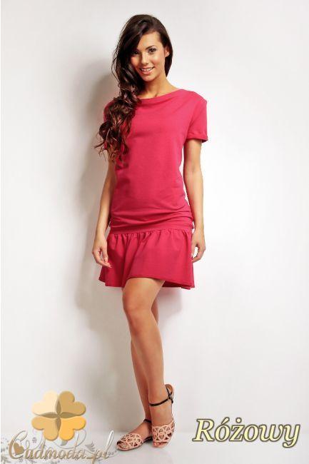 Sukienka do kolana z krótkim rękawem marki Karen Styl.  #cudmoda #moda #ubrania #odzież #clothes #sukienki #glamour