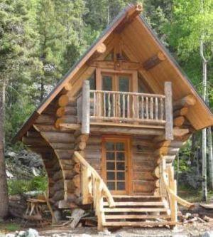 Teeny log cabin!