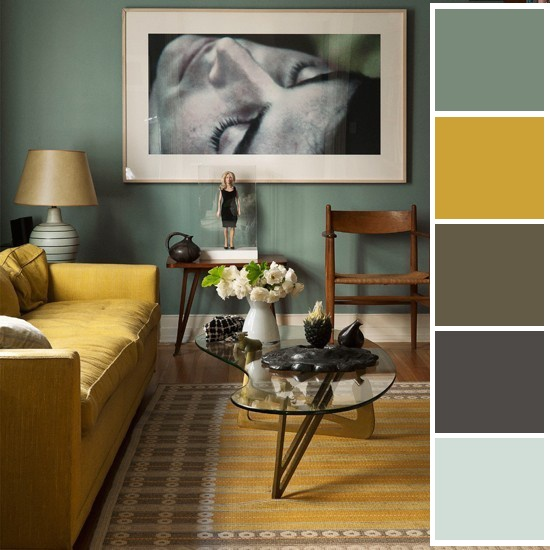 bedroom palette - found photo and added color blocks